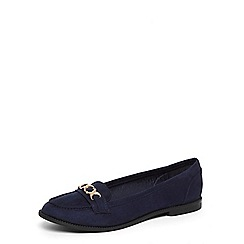 Dorothy Perkins - Navy wide fit 'lydia' loafers