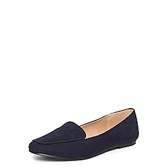 Dorothy Perkins - Wide fit navy 'Lila' loafers