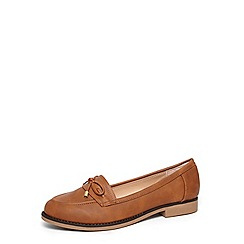 Dorothy Perkins - Wide fit tan 'leonia' loafers