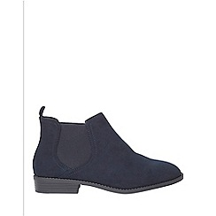 Dorothy Perkins - Wide fit navy 'Moon' boots