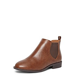 Dorothy Perkins - Wide fit tan 'Moon' chelsea boots