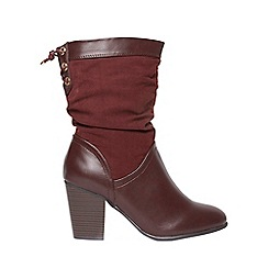 Dorothy Perkins - Wide fit burgundy 'Kassy' boots