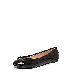 Dorothy Perkins - Wide fit black patent 'pandora' pumps