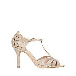 Dorothy Perkins - Wide fit gold glitter 'beth' sandals
