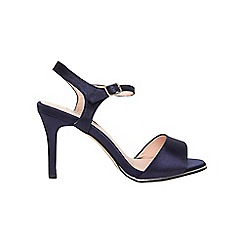 Dorothy Perkins - **showcase wide fit navy 'Senorita' sandals