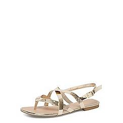 Dorothy Perkins - Wide fit gold fine sandals