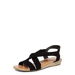 Dorothy Perkins - Wide fit black 'flavour' sandals