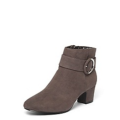 Dorothy Perkins - Wide fit grey 'ace' ankle boots