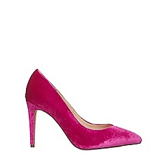 Dorothy Perkins - Wide fit magenta velvet 'evie' court shoes
