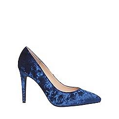 Dorothy Perkins - Wide fit navy velvet 'evie' court shoes