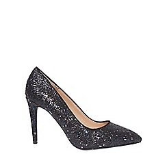 Dorothy Perkins - Wide fit black glitter 'emily' pointed court shoes