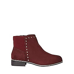Dorothy Perkins - Wide fit burgundy 'mercie' ankle boots
