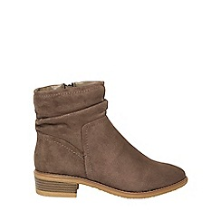 Dorothy Perkins - Wide fit taupe 'Mallory' boots