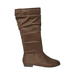 Dorothy Perkins - Widefit brown 'tessa' boots