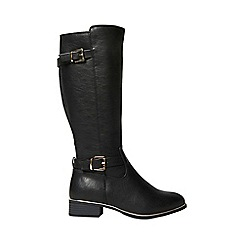 Dorothy Perkins - Wide fit black 'trinity' boots