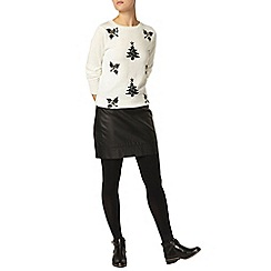 Dorothy Perkins - Ivory sequin holly jumper