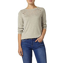 Dorothy Perkins - Grey patterned yoke jumper