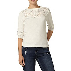 Dorothy Perkins - Ivory patterned yoke jumper