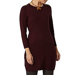 Dorothy Perkins - Berry button shoulder knitted tunic