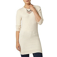 Dorothy Perkins - Oat heart blister knitted tunic