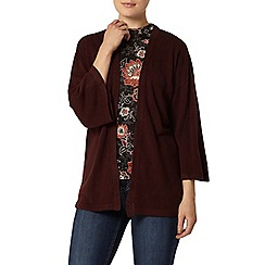 Dorothy Perkins - Berry knitted kimono cardigan