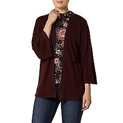 Dorothy Perkins - Berry knitted kimono cardigan