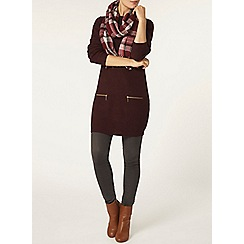 Dorothy Perkins - Mulberry zip rib tunic