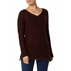 Dorothy Perkins - Berry longline knitted jumper