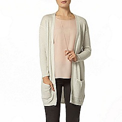 Dorothy Perkins - Silver sparkle longline cardigan