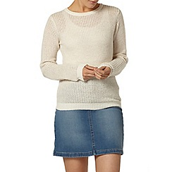 Dorothy Perkins - Gold sparkle stitch jumper