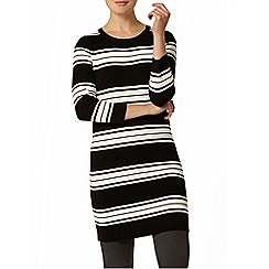 Dorothy Perkins - Black and white knitted stripe tunic