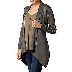 Dorothy Perkins - Charcoal tie waterfall cardigan