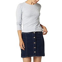 Dorothy Perkins - Blue rose blister jumper