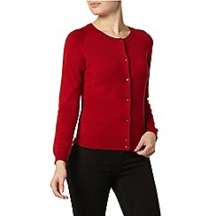 Dorothy Perkins - Red knitted viscose cardigan
