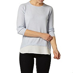 Dorothy Perkins - Blue chiffon layer jumper