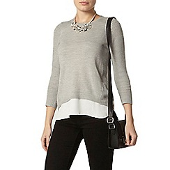 Dorothy Perkins - Grey chiffon layer jumper