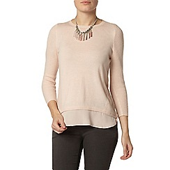Dorothy Perkins - Blush chiffon layer jumper