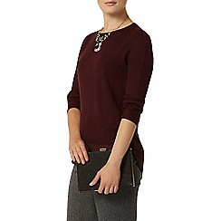Dorothy Perkins - Berry chiffon layer jumper