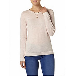 Dorothy Perkins - Blush button shoulder jumper