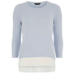 Dorothy Perkins - Tall blue chiffon layer jumper