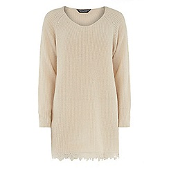 Dorothy Perkins - Tall ivory lace longline jumper