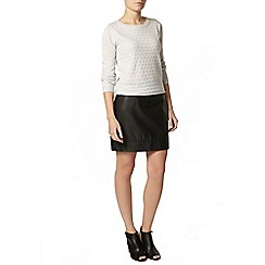 Dorothy Perkins - Grey heart jumper