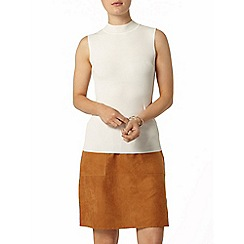 Dorothy Perkins - Ivory sleeveless high neck knitted top