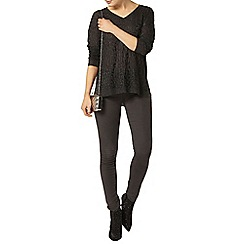 Dorothy Perkins - Charcoal sparkle animal jumper