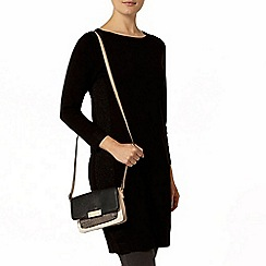 Dorothy Perkins - Black sparkle panel knitted tunic