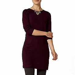 Dorothy Perkins - Berry sparkle panel knitted tunic