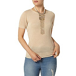 Dorothy Perkins - Rose gold sparkle t-shirt