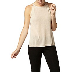 Dorothy Perkins - Gold sparkle knitted shell top