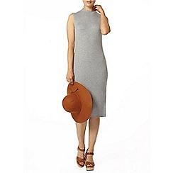 Dorothy Perkins - Grey rib beaded knitted midi dress