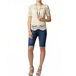 Dorothy Perkins - Ivory crochet t-shirt